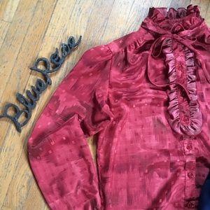 Vintage ruffle blouse